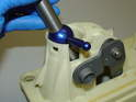 Now fit the new shift lever to the shifter housing.
