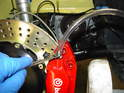 Brembo supplies a section of clear tubing to use when bleeding the brakes.