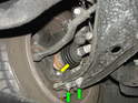Shown here is one of the differences in the front control arm setup on the R55/R56/R57 cars.