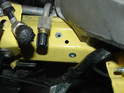 Shown here are the nutserts installed in the front driver's frame rail.