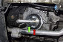Remove MINI tool 11 9 601 (green arrow) from the engine.