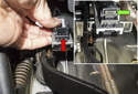 Press the mount / adjuster (red arrow) into the pedal mounting bracket.