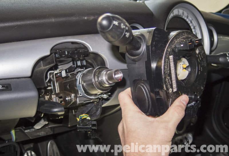 mini cooper r56 steering column switch replacement (2007 ... clock spring wiring diagram 2003 impala