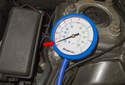 Idle engine until it reaches operating temperature.