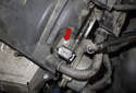 Exhaust camshaft sensor: Then, using a 8mm socket, remove the sensor fastener (red arrow).