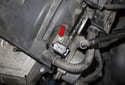 Exhaust camshaft sensor: Then, using a 8mm socket, remove the sensor fastener (red arrow).