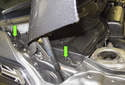 Replacing battery: Move to the right side of the cowl, near the hood strut.