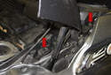 Move to the left side of the cowl, near the hood strut.