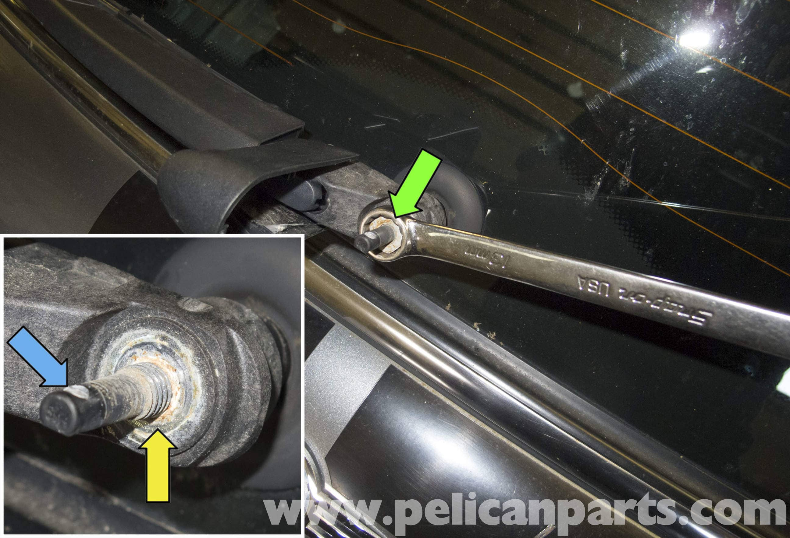 Mini Cooper R56 Rear Wiper Arm And Motor Replacement 2007