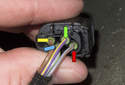 This photo shows the latch electrical connector.