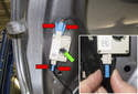 To replace one of the antenna amplifiers, start by unplugging the electrical connectors.