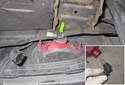 Rear Fog Light: Rotate the bulb socket (green arrow) 45° and remove it from the lens.