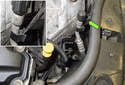 Start at the right side of the engine compartment near the engine oil dipstick.