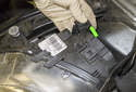 Disconnect the left and right headlight electrical connectors.