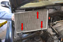 Turn the cover over, remove the old filter, wipe out the lid and airbox and install your new filter.
