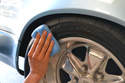 Apply the product to the tires, wipe off any excess dressing on the rubber and any other place it may have gotten that you don't want then go over the tire or rubber one more time.