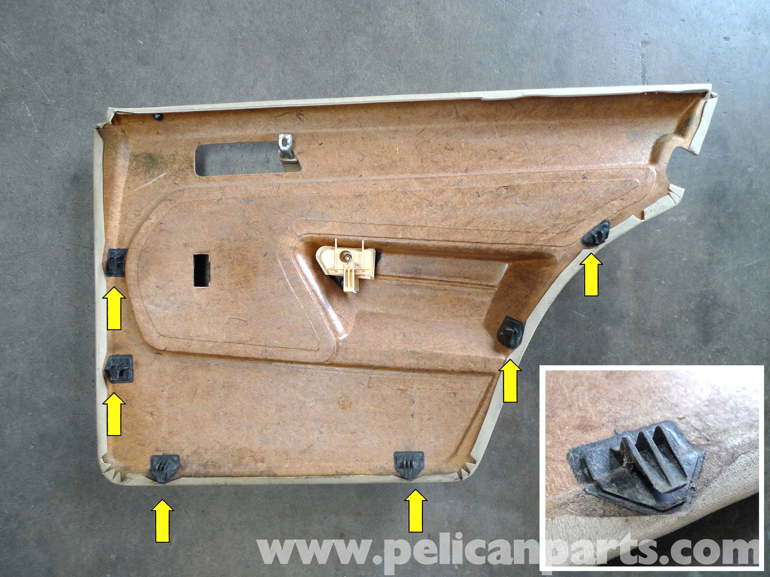 Mercedes benz 190e rear door panel removal w201 1987 1993 large image extra large image eventelaan Gallery