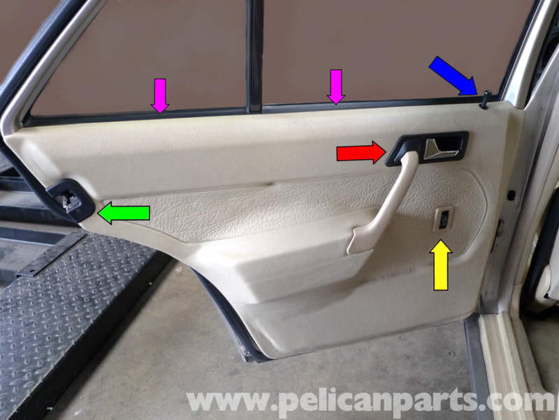 Mercedes Benz 190e Rear Door Panel Removal W201 1987