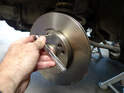 Install the new rotor and secure it with a new T-30 screw.