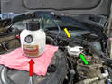 Make sure that you use DOT 4 brake fluid in your car.