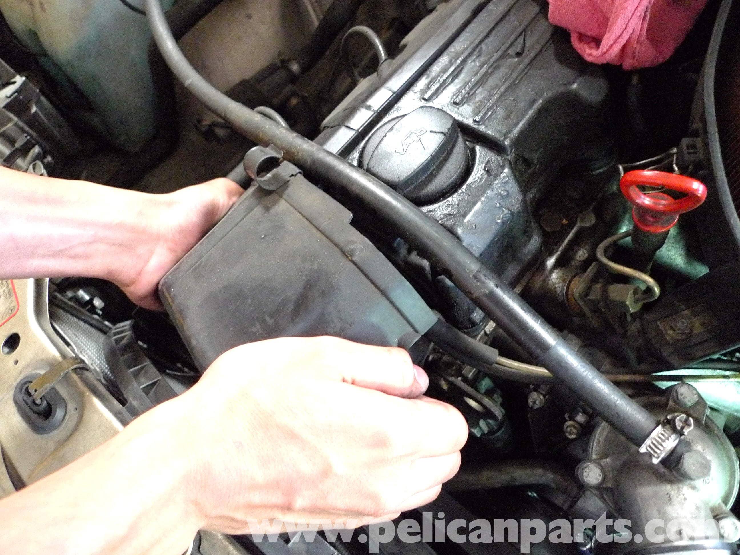 Mercedes      Benz    190E Belt Tensioner Replacement   W201 19871993   Pelican Parts DIY Maintenance