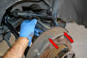 Remove the old nut, bolt, washers and compression sleeve from the hub.