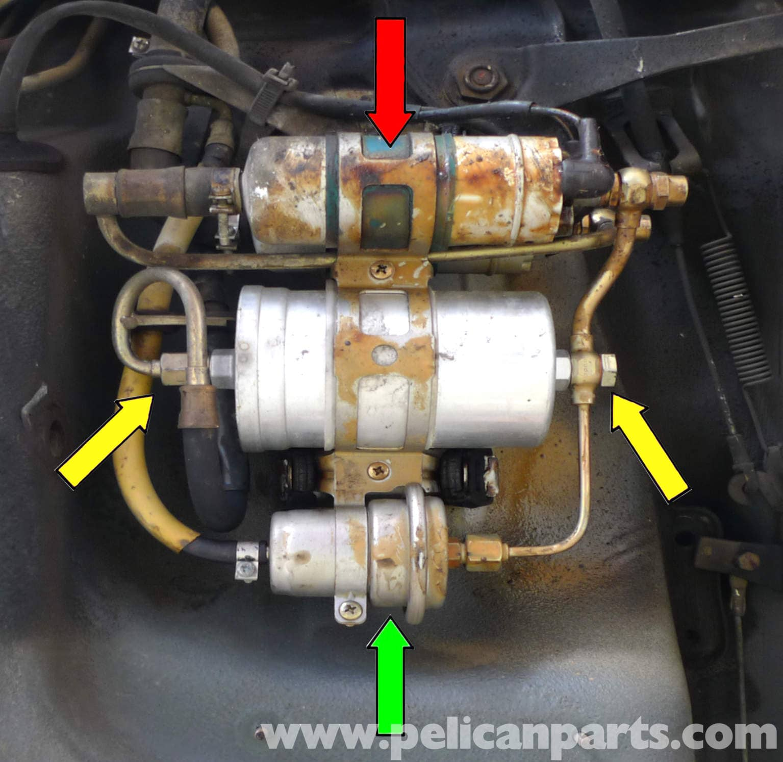 Mercedes Benz 190e Fuel Filter Replacement W201 1987