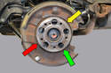 Pull the rotor off and you will see the parking brake assembly.