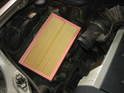 Place the filter element in the bottom of the airbox, taking note which way it is placed inside.