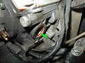 Take a look inside the mounting bore and check if the old O-ring is still in place (green arrow).