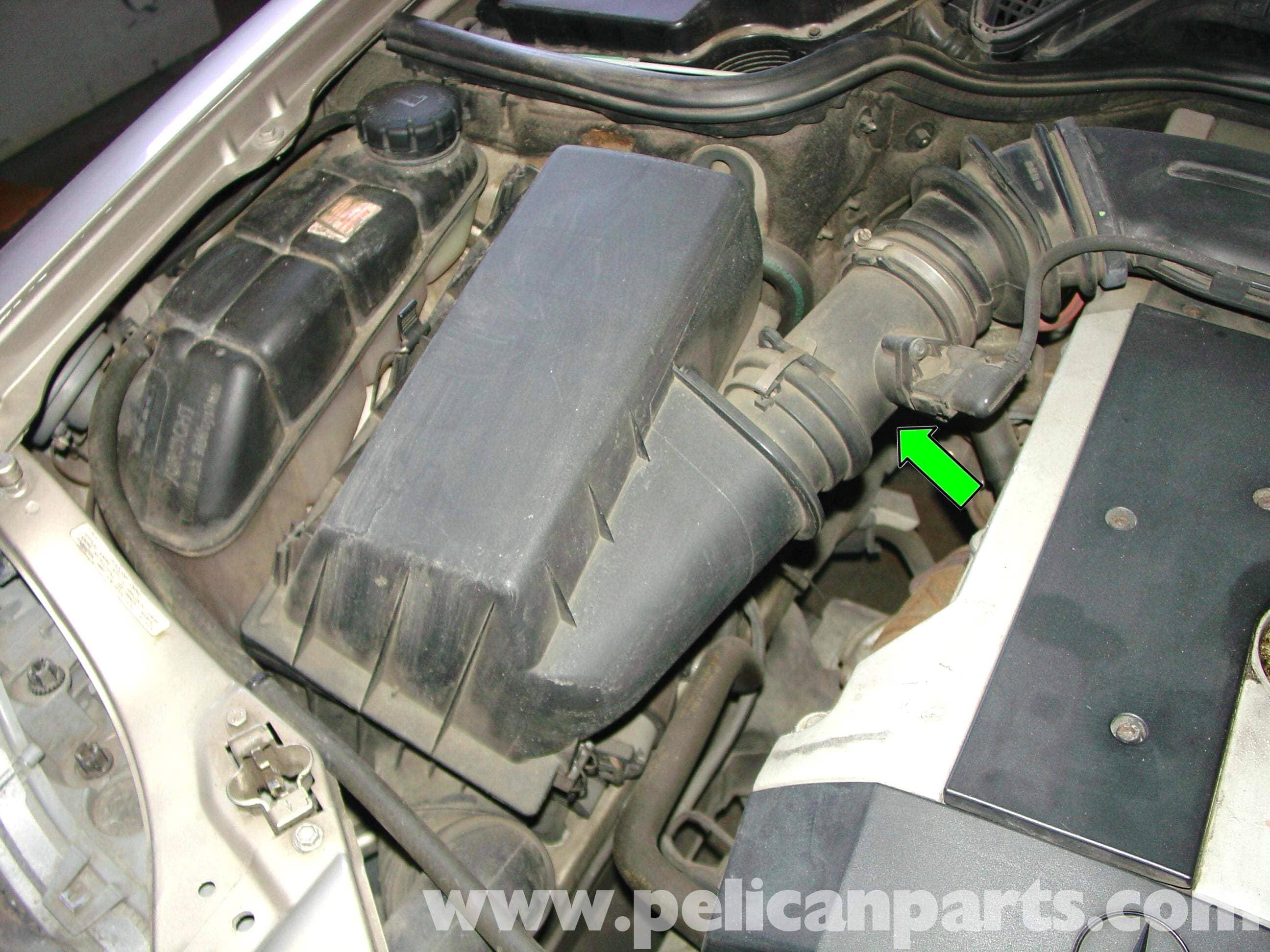 Mercedes benz w210 maf sensor replacement 1996 03 e320 for Mercedes benz sensors