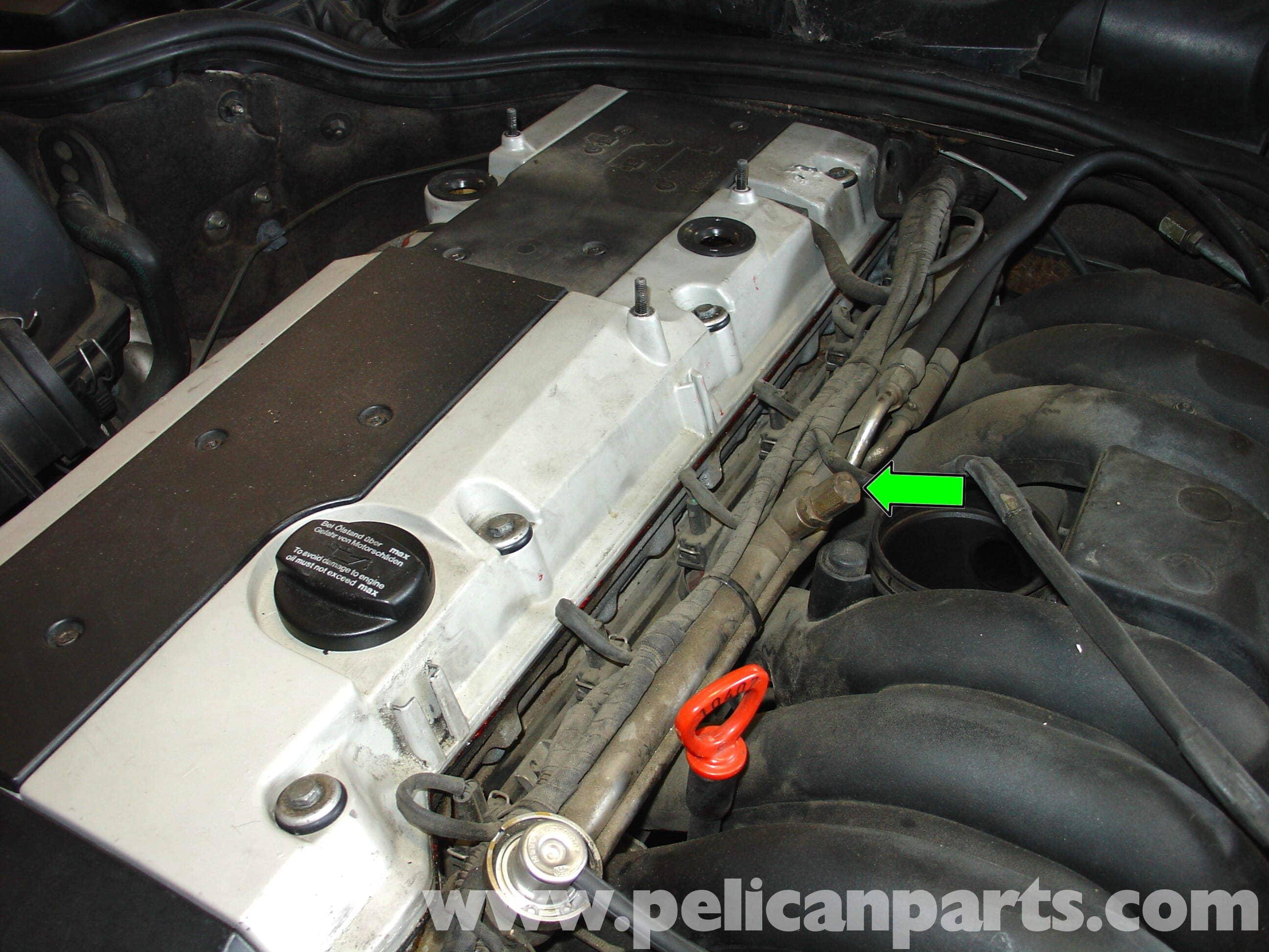 mercedes w210 fuel injector replacement 1996 03 e320 e420 pelican parts diy