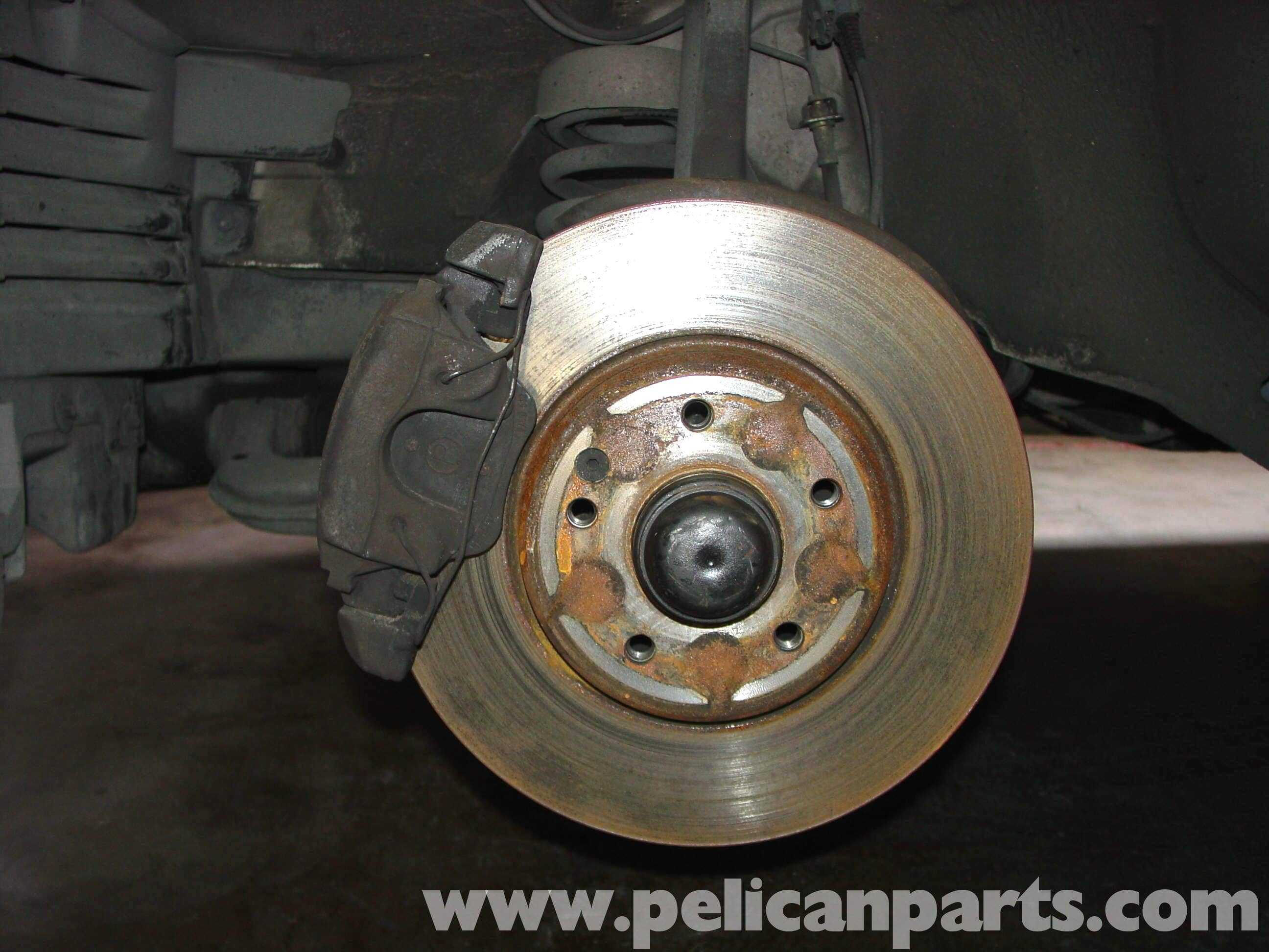 Mercedes benz w210 front brake pad disc replacement 1996 for Brake pads mercedes benz