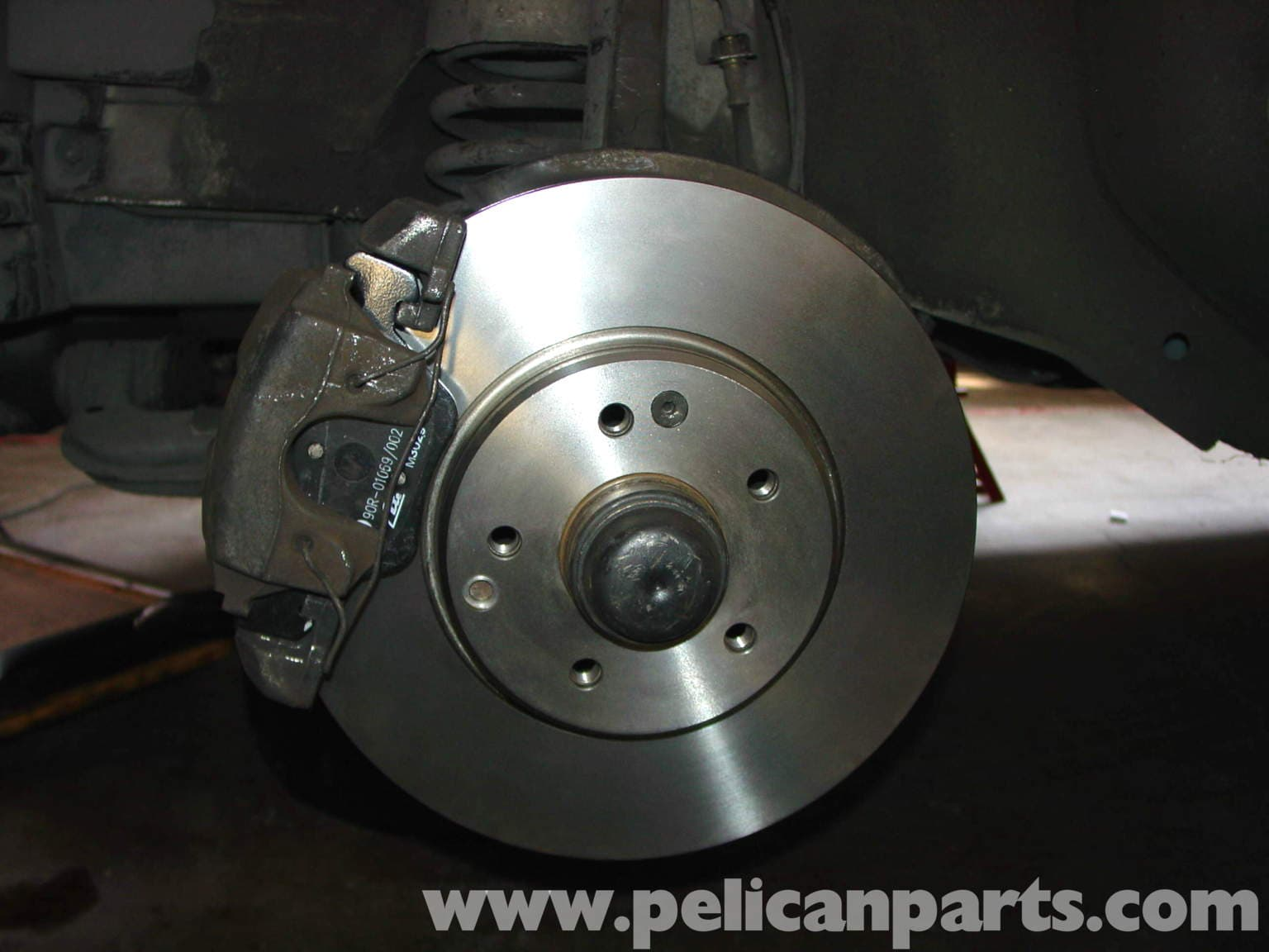 Mercedes benz w210 front brake pad disc replacement 1996 for Mercedes benz rotors replacement