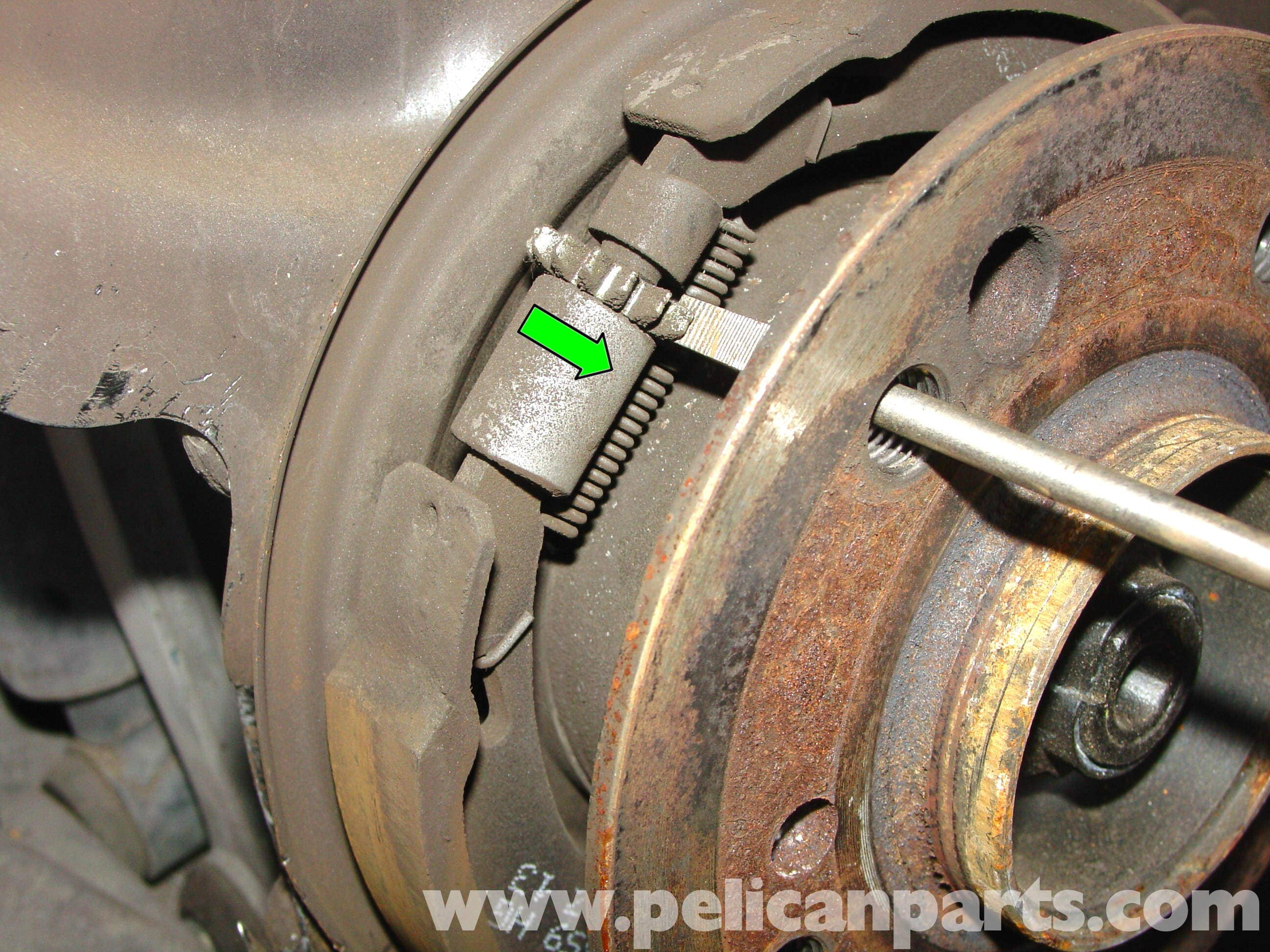 Wonderful images of mercedes a class handbrake adjustment for Mercedes benz e350 brake pads replacement