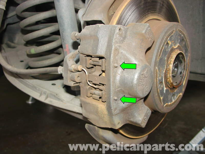 Mercedes benz w210 rear brake pad disc replacement 1996 for Mercedes benz brake tools