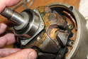 Inspect the rotor for corrosion which will lead to reduced current discharge.