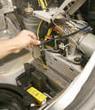 With the trunk panels removed the roof's closed limit switch must be activated so that the trunk can be returned to its