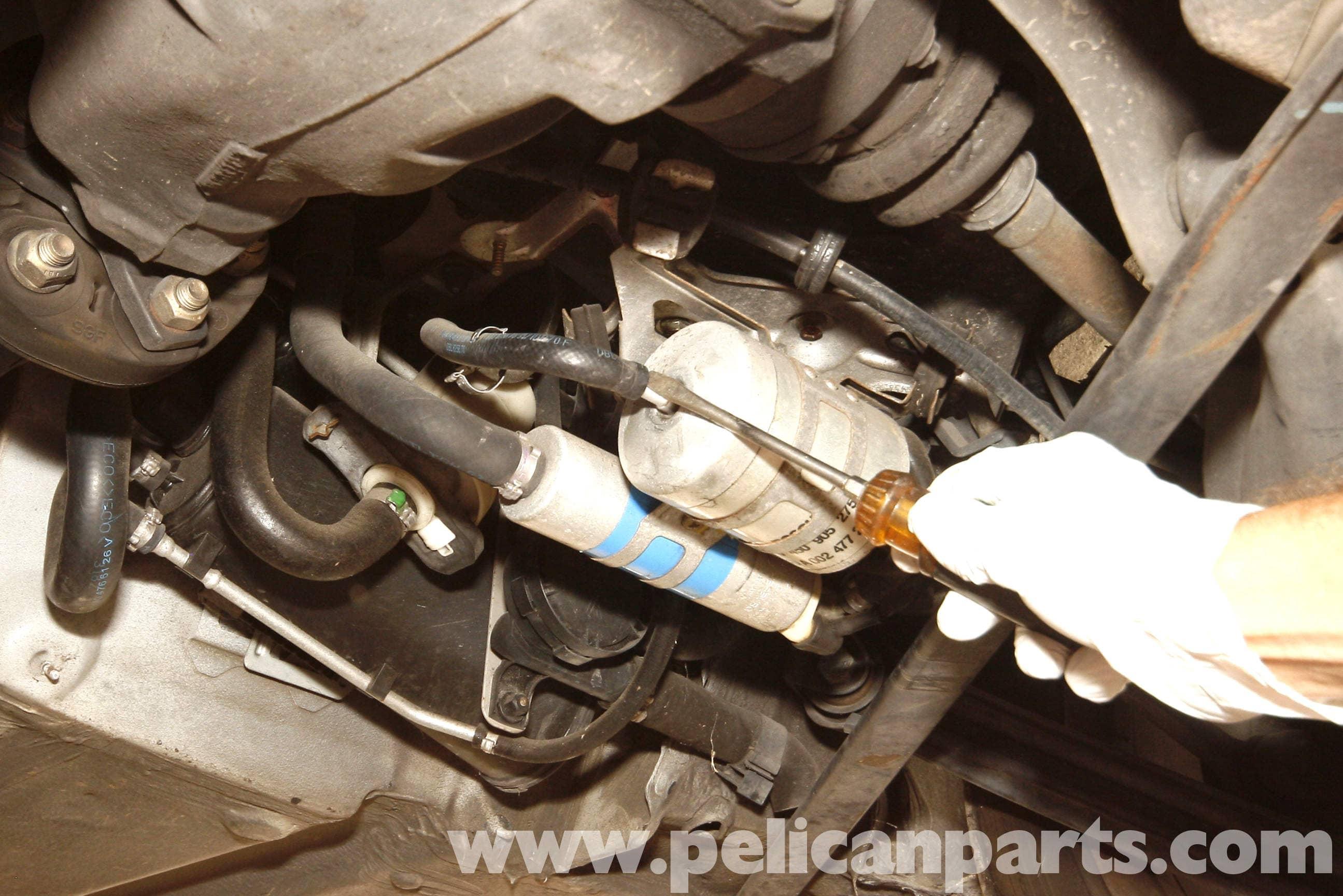 Mercedes-Benz SLK 230 Fuel Filter Replacement | 1998-2004 ...