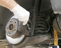 Brake cleaner can be used to clean pad dust off the rotors, calipers, backing plates, clips and pins.