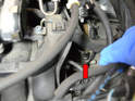 Working from the left side of the car, locate the crankshaft sensor.