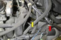 It is a good idea to remove the sensor with the wiring harness attached.
