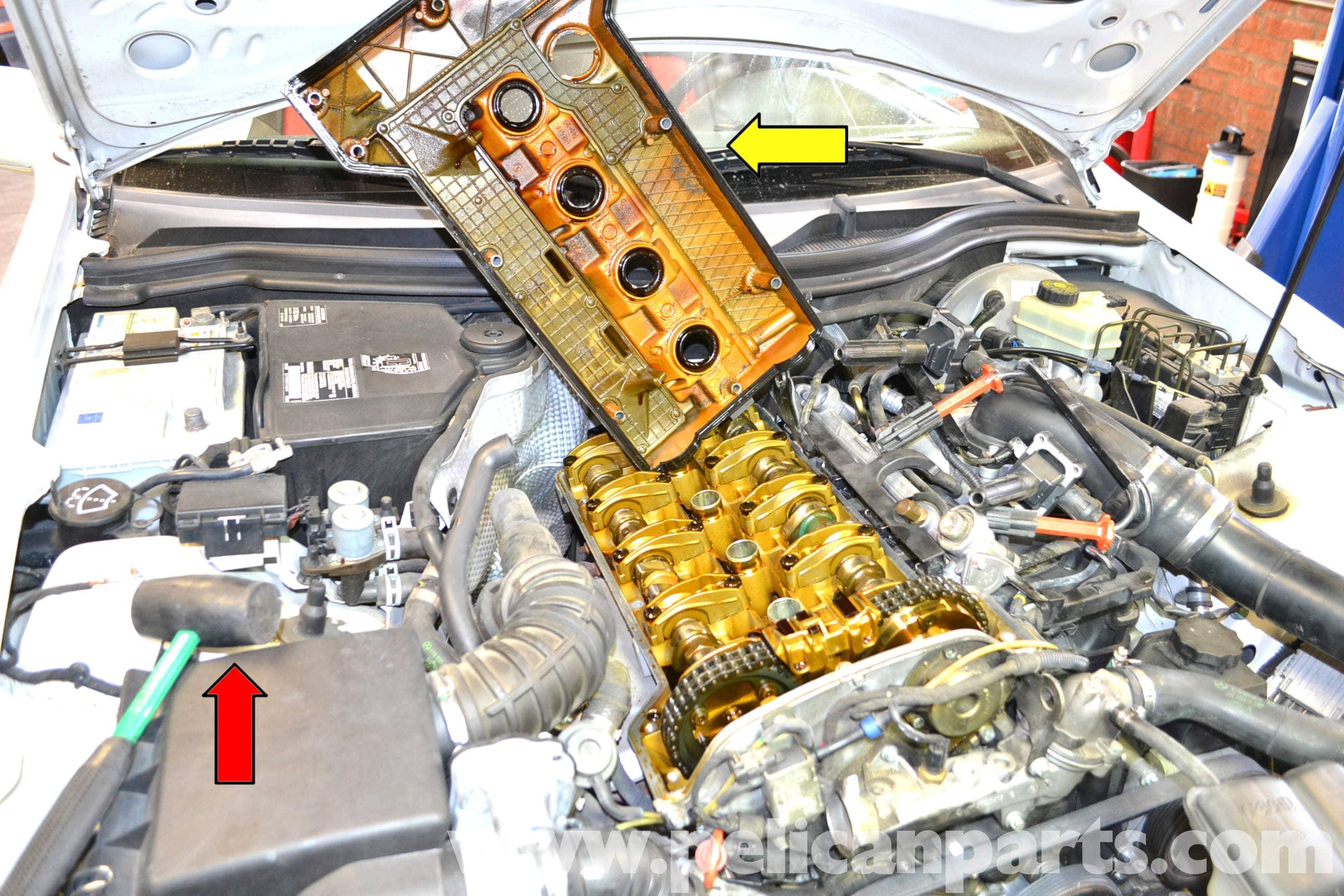 mercedes slk 230 valve cover gasket replacement 1998 2004 pelican parts diy maintenance