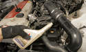 Use fresh power steering fluid.