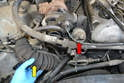 If you are replacing the EGR valve (red arrow) you will need to remove the turbo air intake hose (yellow arrow) to access the mounting hardware.
