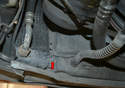 There is a power steering cooler attached to the left side of the radiator.