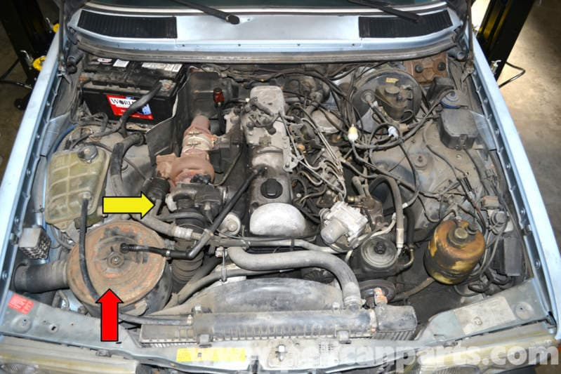 mercedes benz  turbo oil drain tube replacement