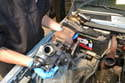 Remove the turbo charger and components by following the steps in the turbo removal article.