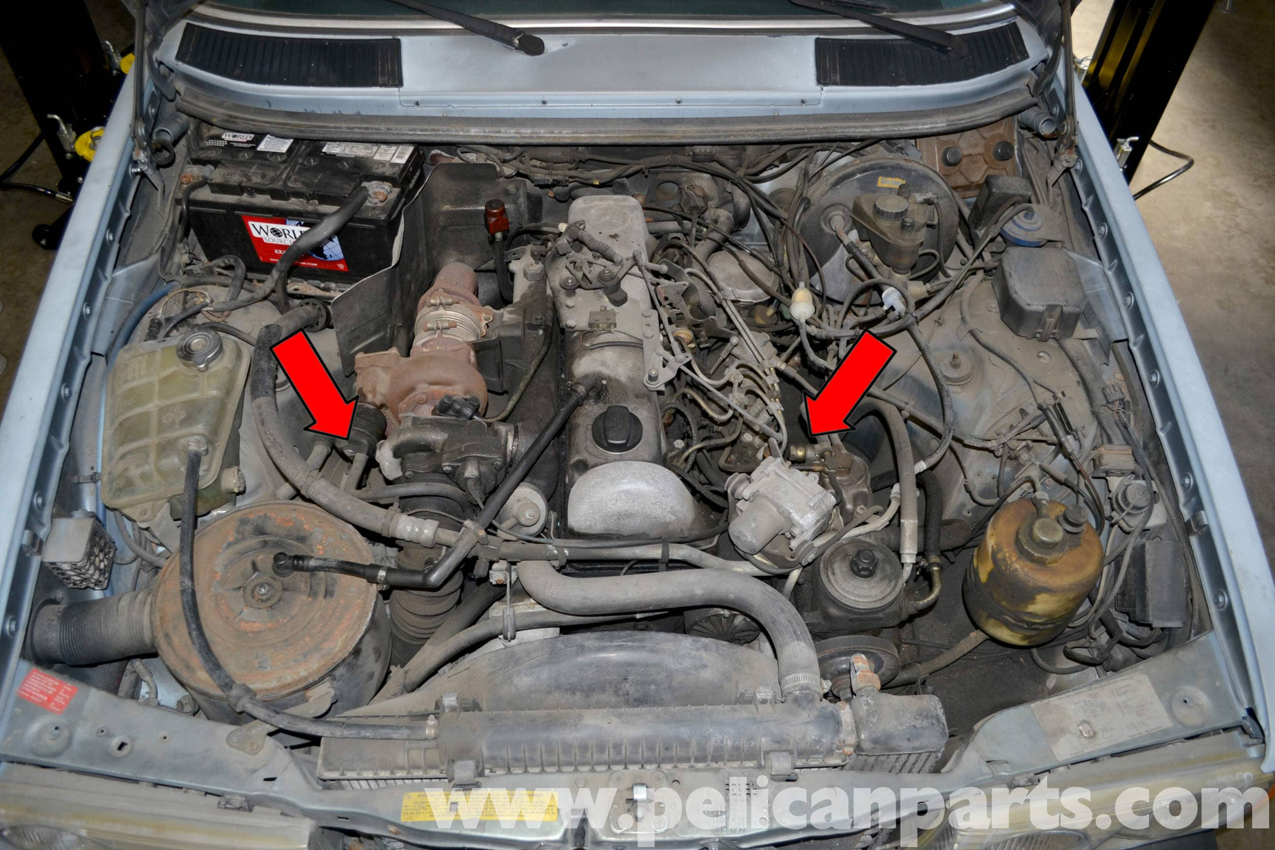 Mercedes Benz W123 Engine Mount And Shock Replacement