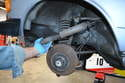 With both bolts removed you can easily remove the shock from the vehicle.